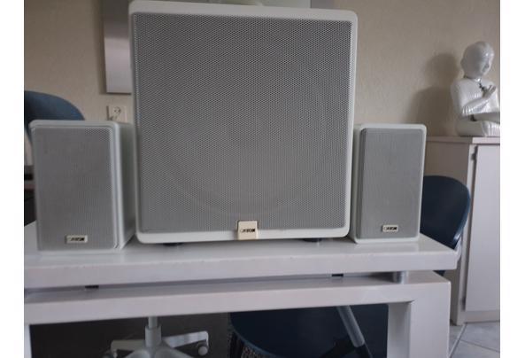 Canton luidsprekerset; basbox met 2 kleine boxjes, voor gebruik bij versterker o.i.d. - Canton_boxen
