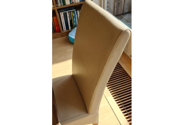 6 creme kleurige eetkamer stoelen - stoel-(2)