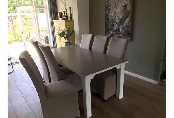 Eettafel met 6 stoelen 90 x185 - 9946EED2-74E5-4C65-B09C-DA035E53AC6F
