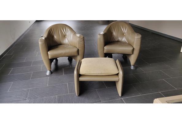 2 Leolux fauteuils met voetensteun - IMG_20210222_145754