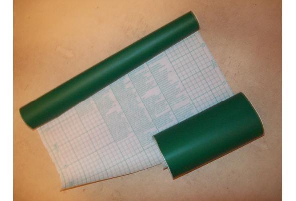 Groot Vel Blauw Karton, 'n stuk Groen Plakfolie, Geel en Rozen Karton (zie maten) - AA-PLAKFOLIE-GROEN