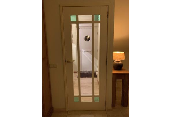 mooie hardhouten binnendeur met glas - binnendeur