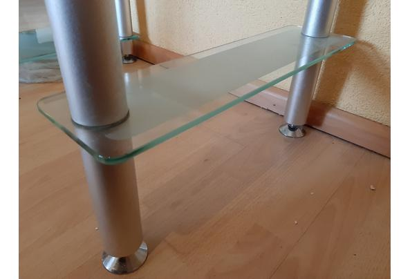 Compact modern glazen bureautje; veel aflegplek - 20201218_154833