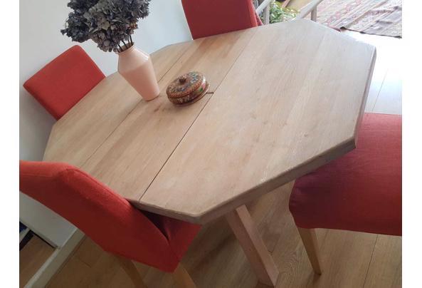 Uiterlijk donderdag ophalen: Massief houten tafel, met whitewash behandeld - IMG-20210608-WA0004