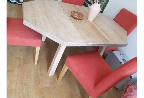 Uiterlijk donderdag ophalen: Massief houten tafel, met whitewash behandeld - IMG-20210608-WA0005