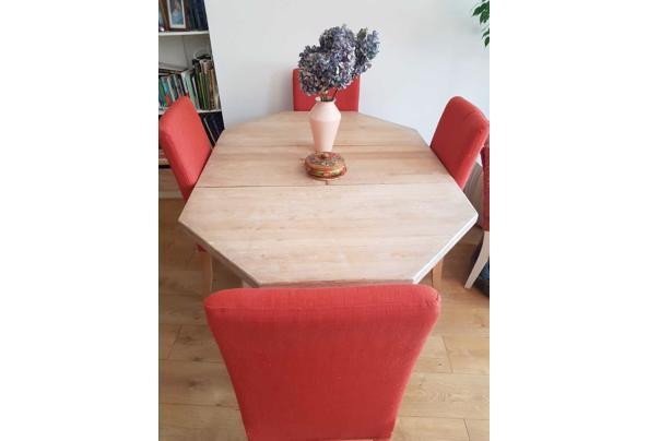 Uiterlijk donderdag ophalen: Massief houten tafel, met whitewash behandeld - IMG-20210608-WA0006