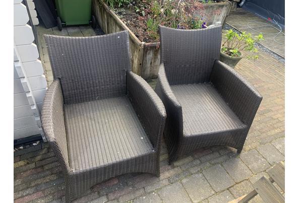 2 relax stoelen + tafeltje/voetenbank - 3E562E49-F703-4434-9EF6-5DCCE942BD4A