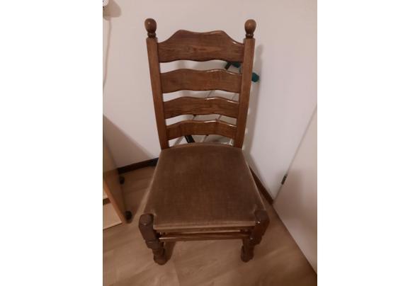 Mooie donker eiken eethoek met 4 mooie stoelen - tskNt0xw