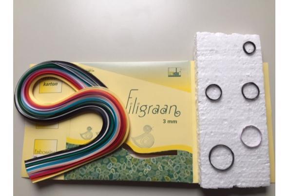 fimoklei, filigraan en origami papier - Afbeelding1