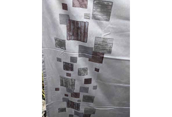 Grijze katoenen overgordijnen  - grijs-detail
