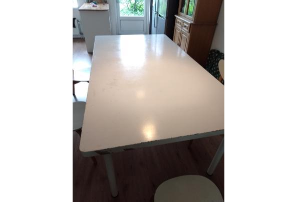 Grote witte eetkamer tafel/werktafel - IMG-20210606-WA0001