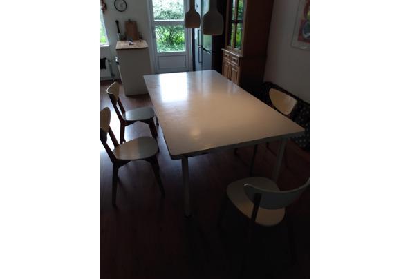 Grote witte eetkamer tafel/werktafel - IMG-20210606-WA0002