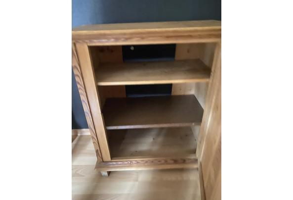 Antiek grenen TV meubel - E0B39D1B-E973-43C6-810C-48E7448EEB12