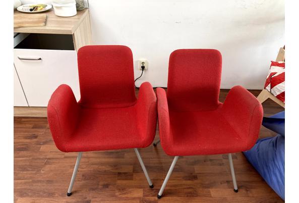 2 eettafel stoelen, rood - IMG_0760