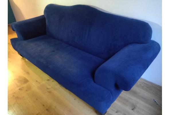 Blauwe comfortabele 3-zits bank, op te halen t/m 20 juli - IMG-20210718-WA0013