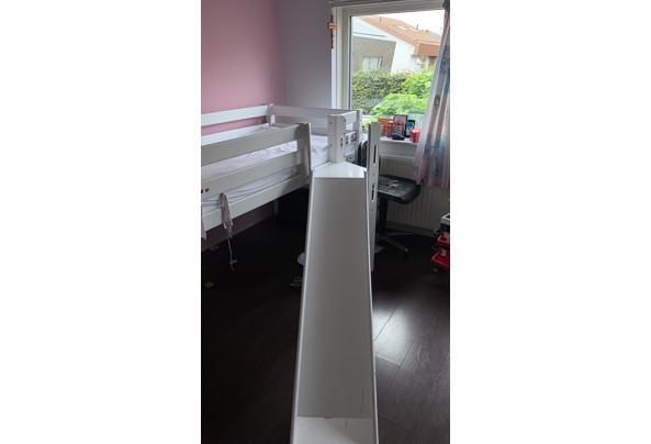 Hoogslaper bed voor kind met glijbaan en trapje - IMG-20210821-WA0003