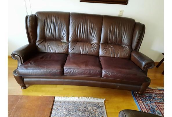Bankstel leer met fauteuil  - 20210501_162906