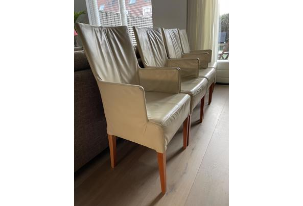 Vier leren eetkamer stoelen - IMG_0122.jpeg