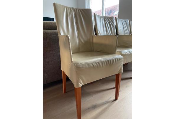 Vier leren eetkamer stoelen - IMG_0126.jpeg