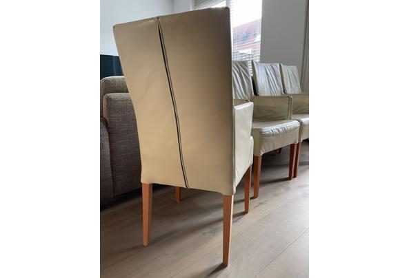 Vier leren eetkamer stoelen - IMG_0127.jpeg