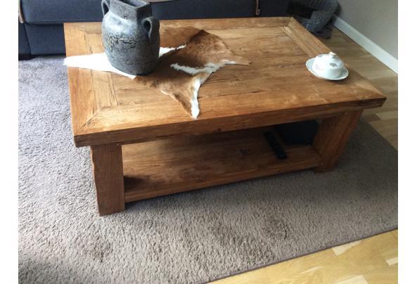 Teak houten salontafel massief  - 2452E0A3-BBB6-4442-A10C-7A3B1F3D1794