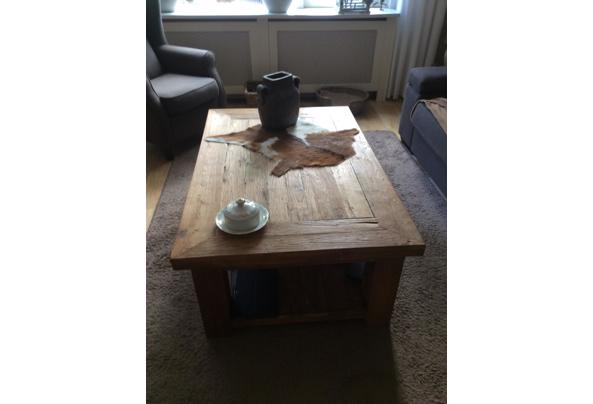 Teak houten salontafel massief  - 3ADFA760-0465-4400-8A2E-EAC357975220