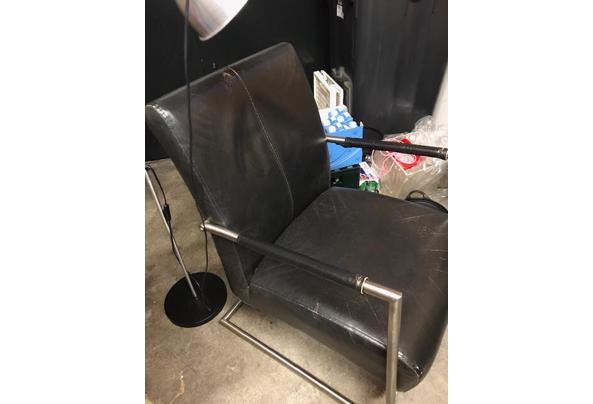 Mooie zwarte kunstleren fauteuil - Stoel