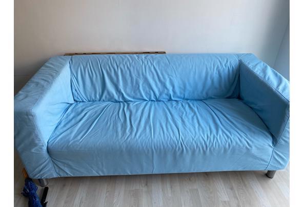 Lichtblauwe tweezitsbank - image0