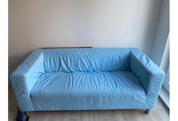 Lichtblauwe tweezitsbank - image1