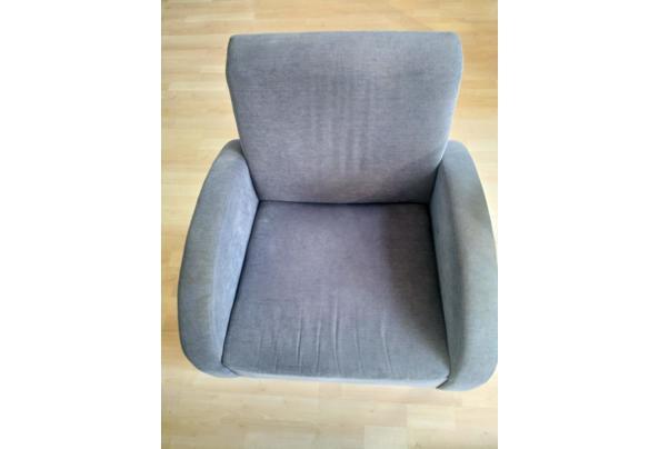 2 blauwe fauteuils / stoelen voor in de woonkamer - IMG_20210603_184148
