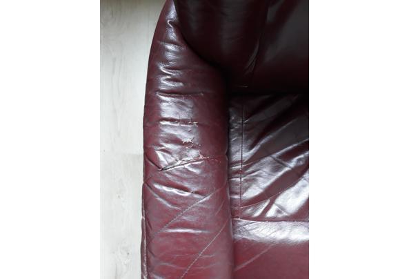 Bordeaux leren stoel - 20210714_114120