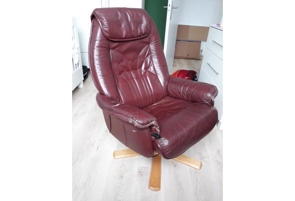 Bordeaux leren stoel - 20210714_114204