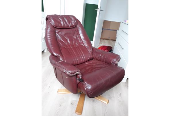Bordeaux leren stoel - 20210714_114235