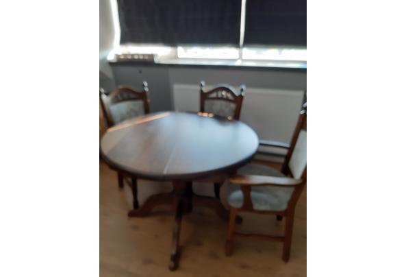 tafel uitschuifbaar met 3 stoelen - tafel
