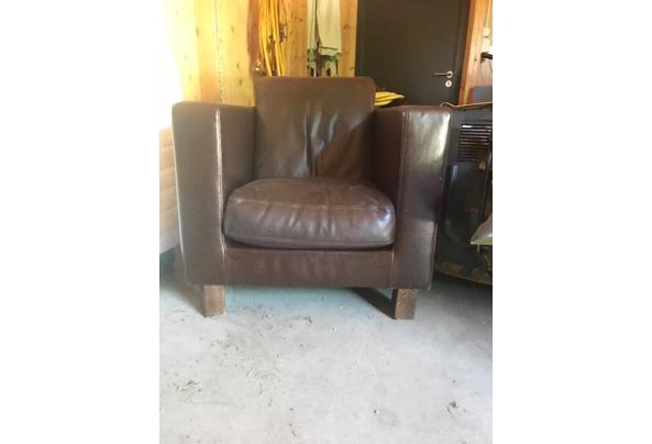 2 Bruine lederen fauteuils - fauteaul-2