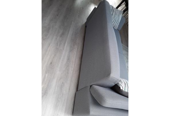 2,5 zits grijze stoffen bank, verstelbare leuningen - Bank-3