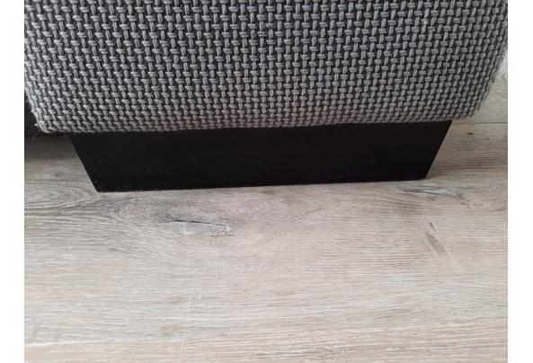 2,5 zits grijze stoffen bank, verstelbare leuningen - Bank-9