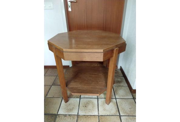 Achthoekig tafeltje, eikenhout - tafel-1