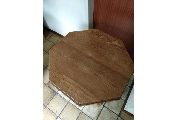Achthoekig tafeltje, eikenhout - tafel-2