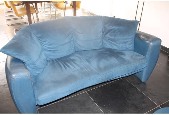 Leolux bank Vinja, 2,5 zits blauw - IMG_6440.JPG