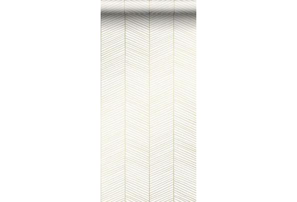 Rol behang - Esta - Visgraad - goud/wit -53cm * 10,05m - Schermafbeelding-2021-08-18-om-09-59-21