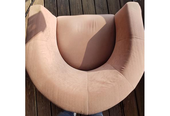 Fauteuil clubjes 2 st. lichtbruin - stoel-1