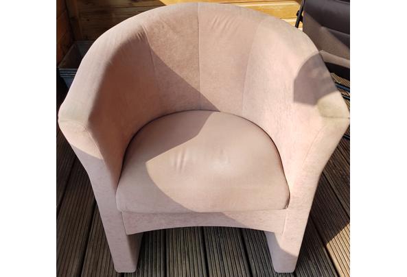 Fauteuil clubjes 2 st. lichtbruin - stoel-2