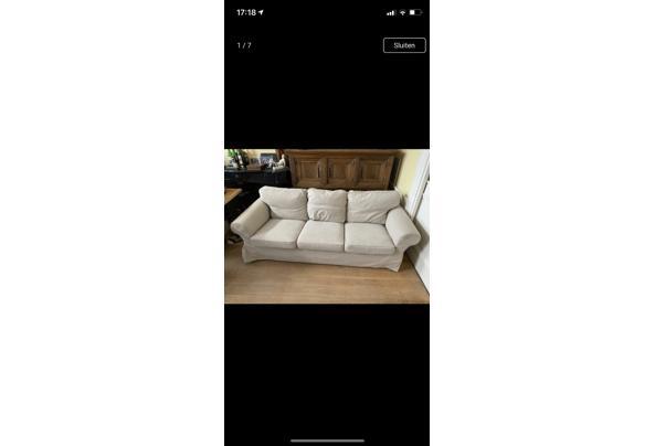 Nette Ikea bank - 3 persoons - beige  - 028AB18B-6BC5-4DEA-B99E-399693E82D66