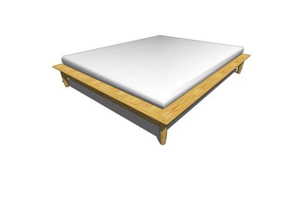 Houten 2p bedframe (200x160)  - Afbeelding1