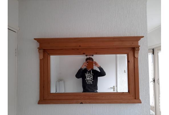 Spiegel met houten omlijsting  - 20210719_095400
