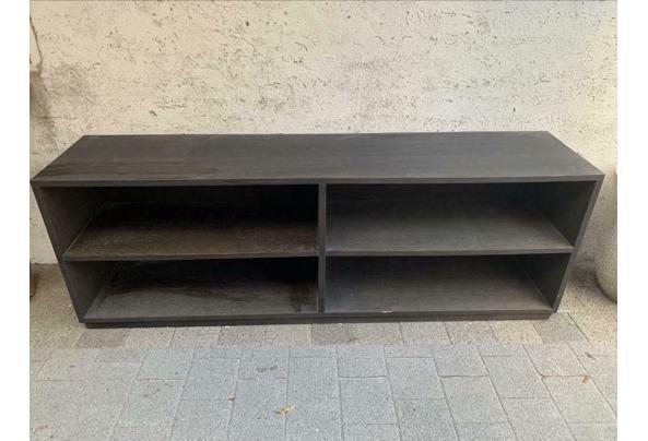Massief zwart houten (tv) meubel  - tv-meubel