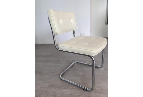 4 witte imitatie leren buisframe stoelen - 28B45CD7-12A6-4DB8-B535-56CFCD5C0C86