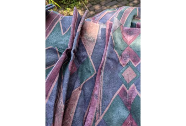 Overgordijnen paars/roze/groen kamerhoog en kamerbreed - PXL_20210723_125550288