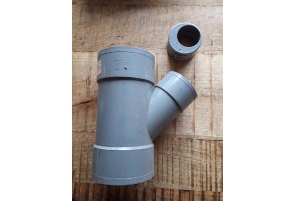 Riool Y stuk 110mm hoek 45 - 16153051413967395952308943831897